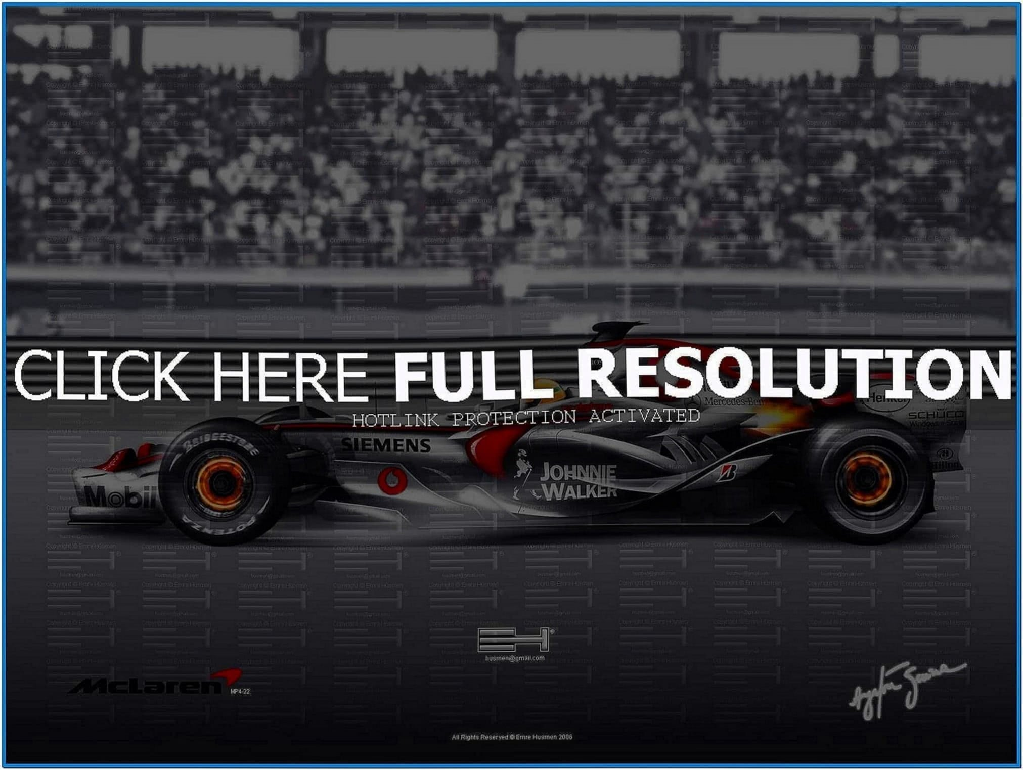 Mclaren Mercedes F1 Screensaver