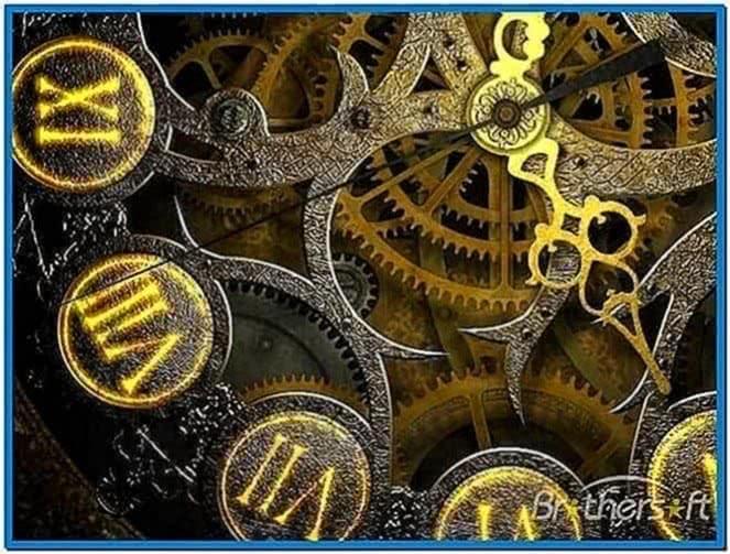 Mechanical clock 3D screensaver 1.2