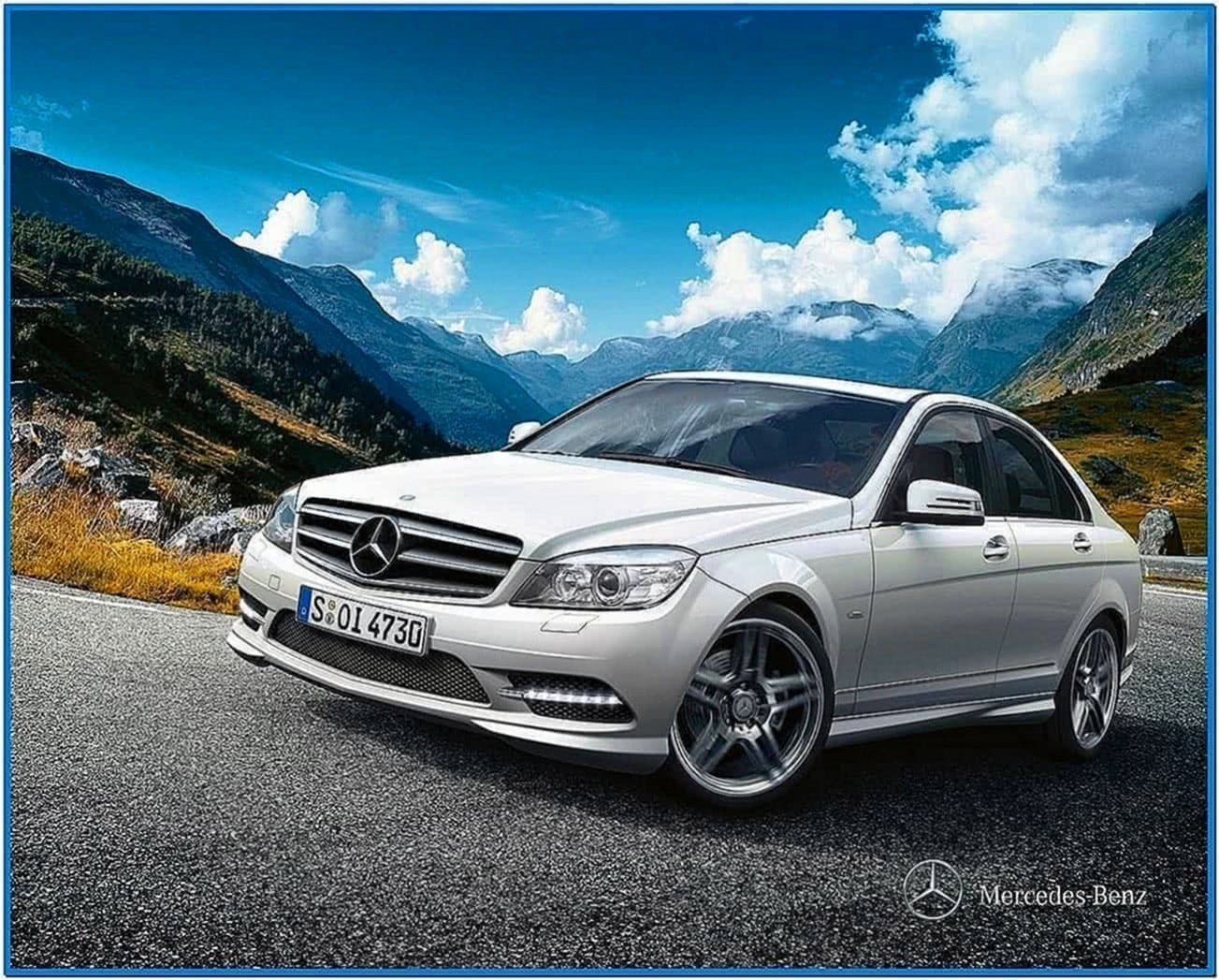 Mercedes Benz C Class Screensaver