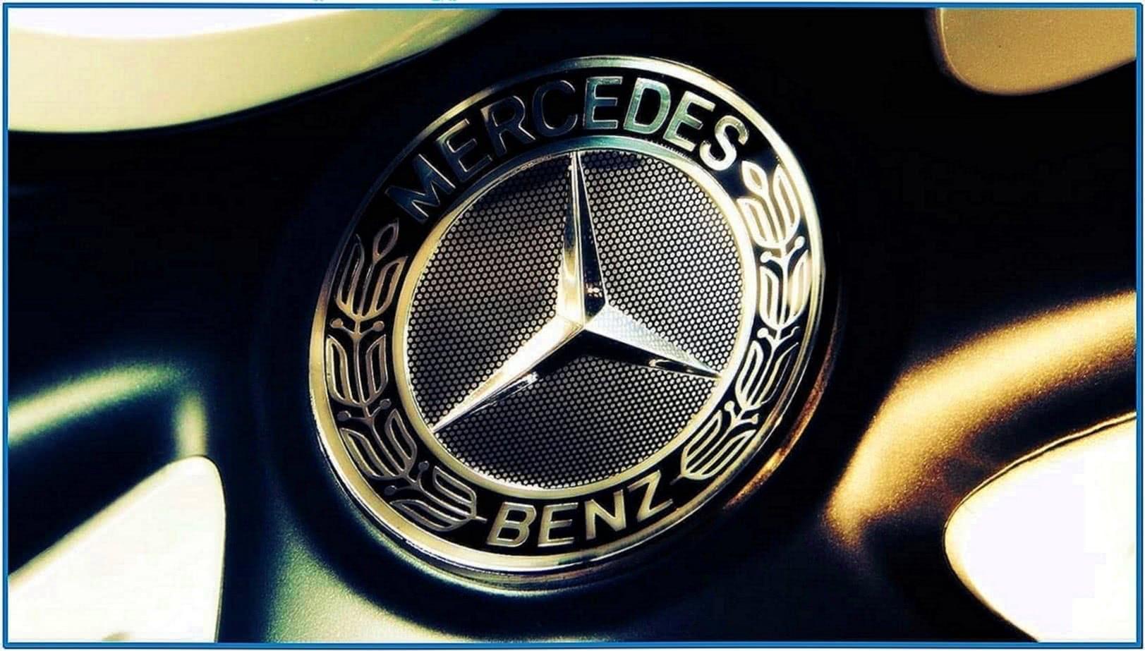 Mercedes benz logo screensaver - Download free