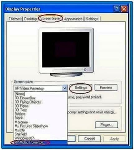 Microsoft Video Screensaver Powertoy