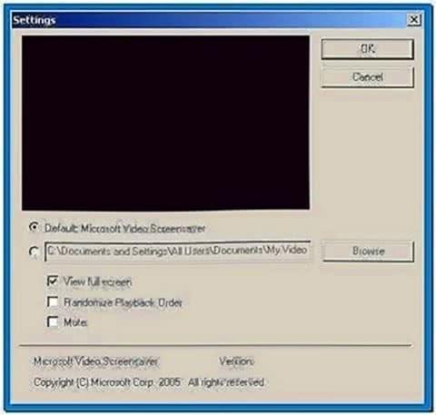 Microsoft video screensaver program