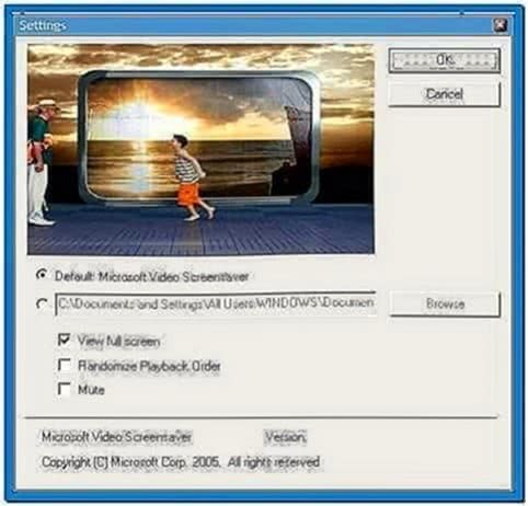 Microsoft Video Screensaver Windows XP