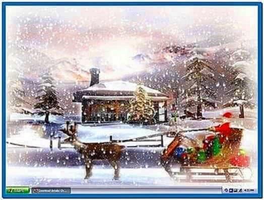 Microsoft Windows Christmas Screensaver