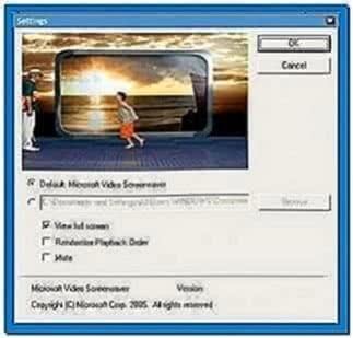 Microsoft Windows xp video screensaver 1.0