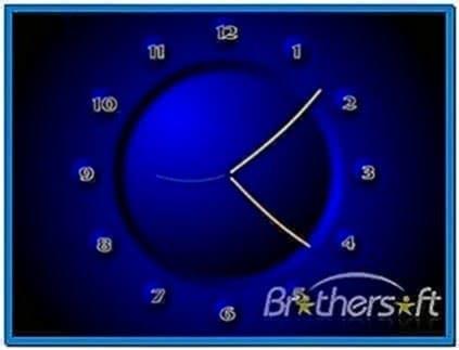 Mini Screensaver Clock