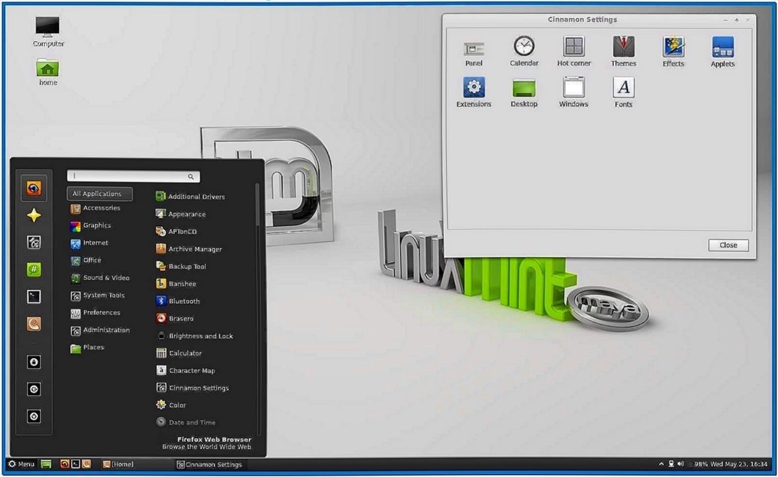 Mint maya screensaver