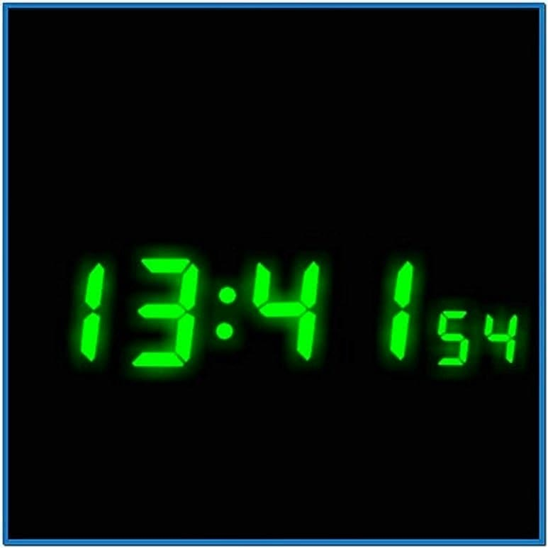 Mobile Digital Clock Screensaver