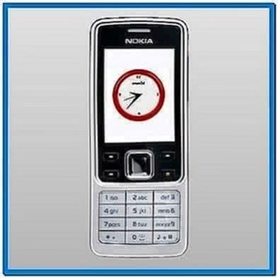 Mobile Phone Analog Clock Screensaver