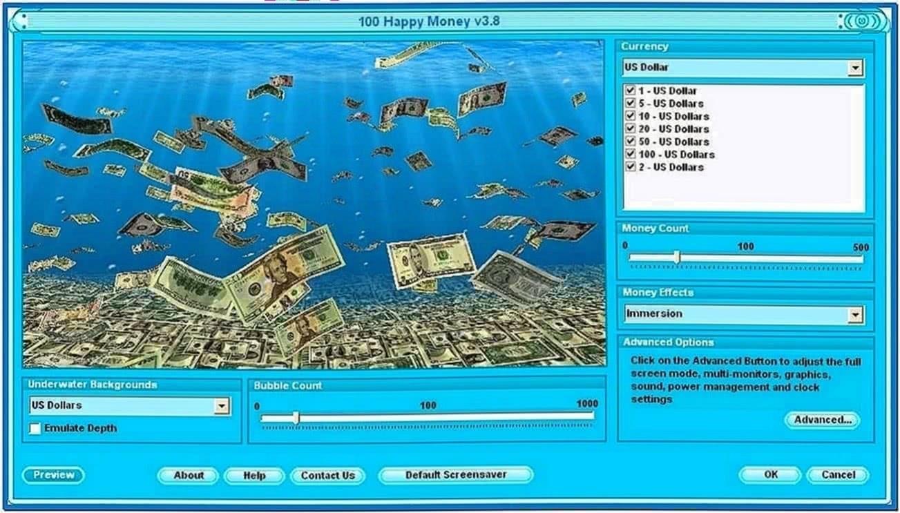 Money Screensaver Windows 7
