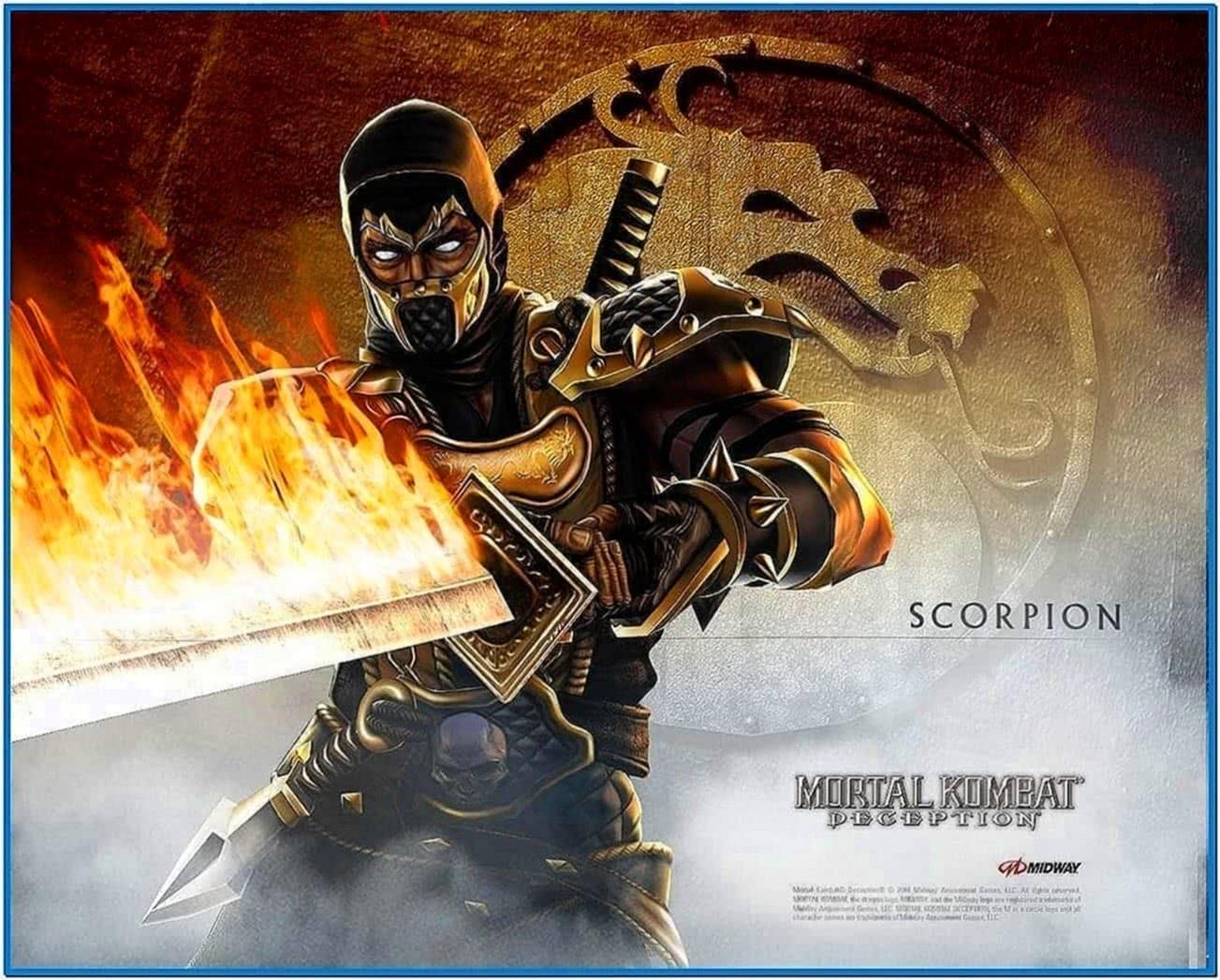Mortal Kombat Scorpion Screensaver