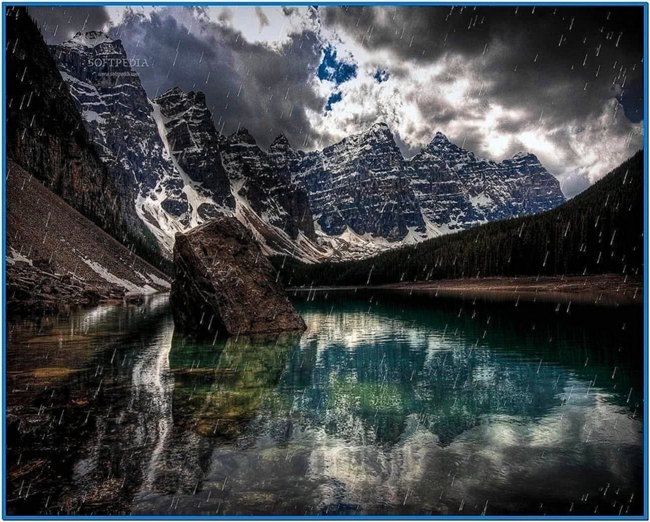 mountain rainstorm screensaver download free