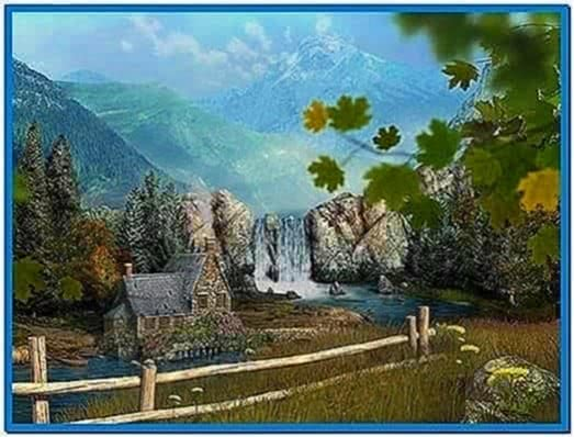 Mountain Waterfall 3D Screensaver 1.0.0.1