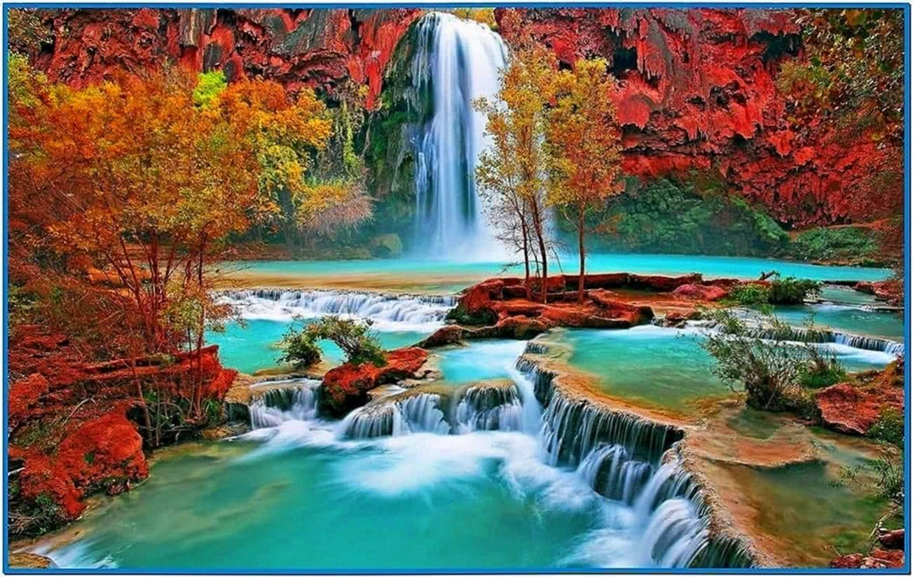 Mountain Waterfall 3D Screensaver