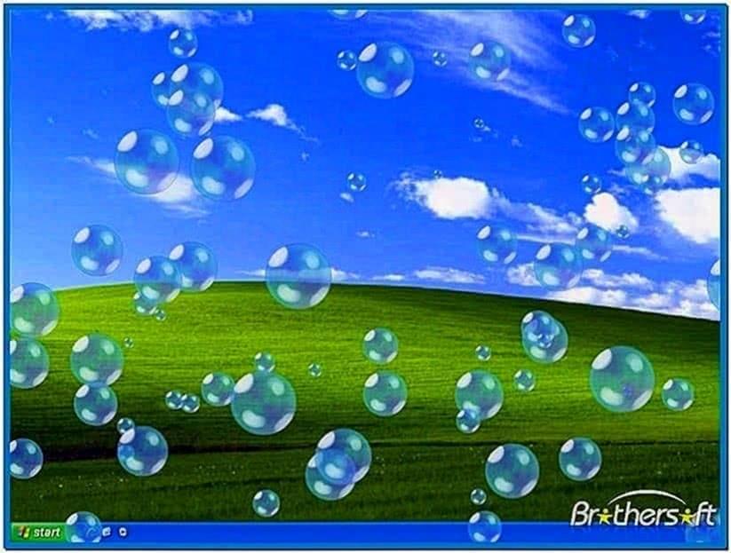 Moving bubbles screensaver