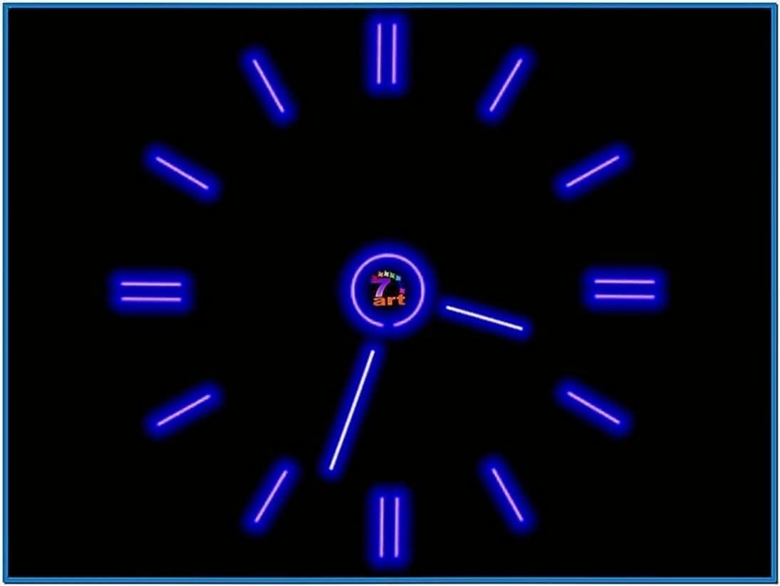 Moving Clock Screensaver Software