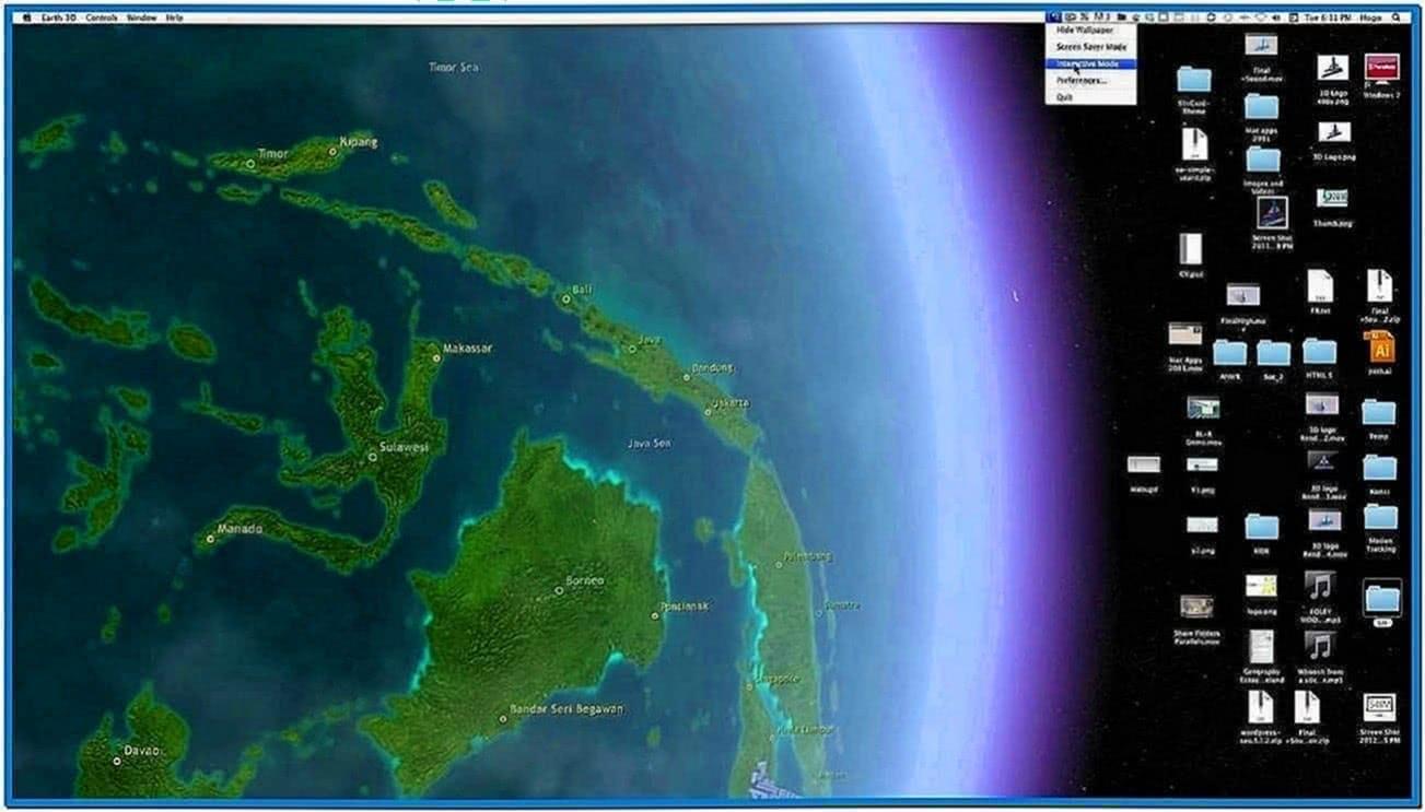 Moving Earth Screensaver Mac