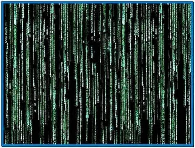 Moving Matrix Code Screensaver