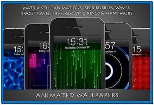 Moving screensavers for iPhone 4s
