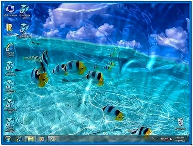 Moving screensavers Windows 7 - Download for free