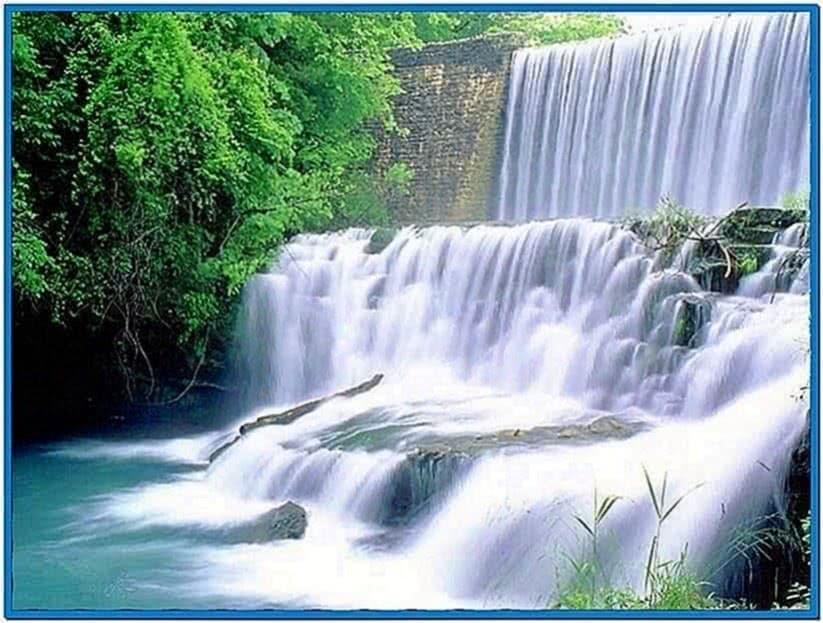 Moving waterfall screensavers Mac