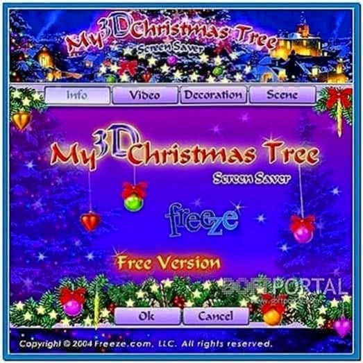 My 3D christmas tree screensaver 1.0
