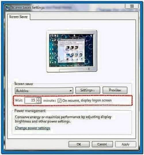 My Pictures Screensaver Options Windows 7