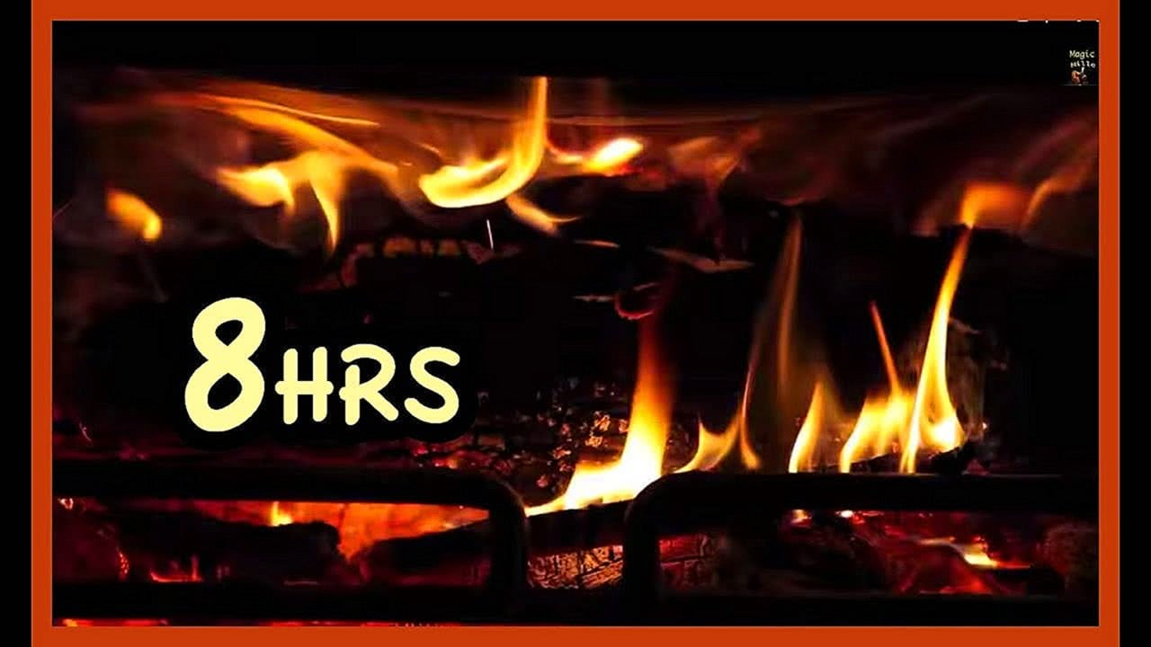 8 Hrs Beast Fireplace Realistic screensaver