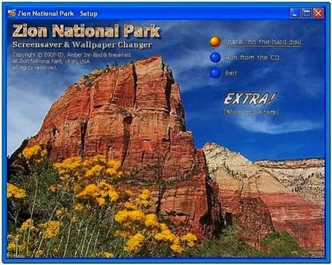 National Parks Screensaver Software