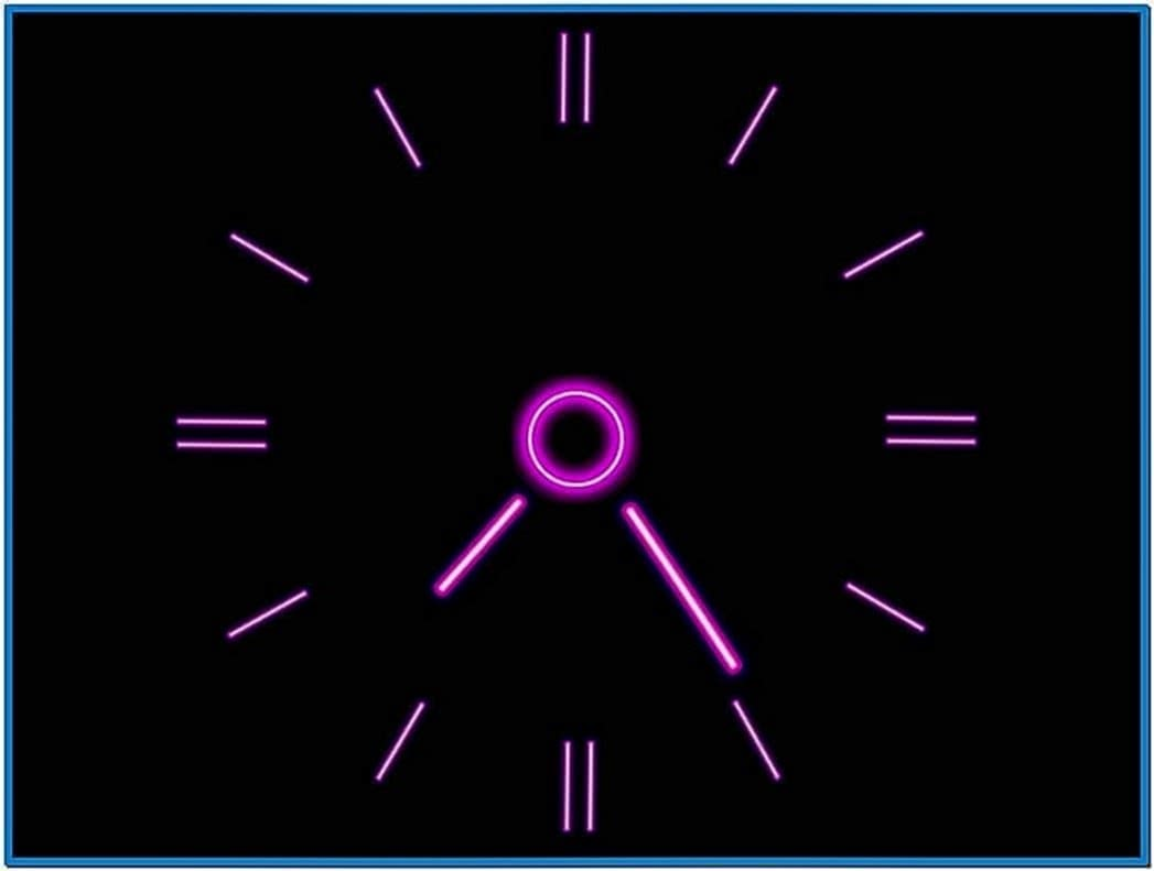 Neon Clock Screensaver for PC