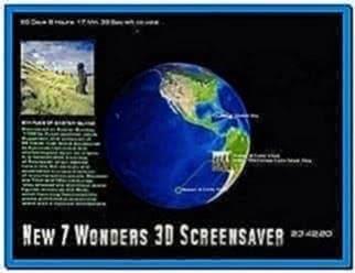 New 7 Wonders 3D Screensaver