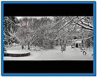 New England Snow Screensaver