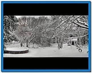 New england snowfall screensaver