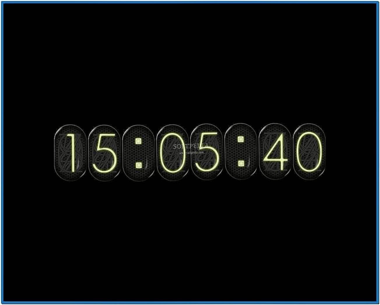 New Screensavers Digital Clock