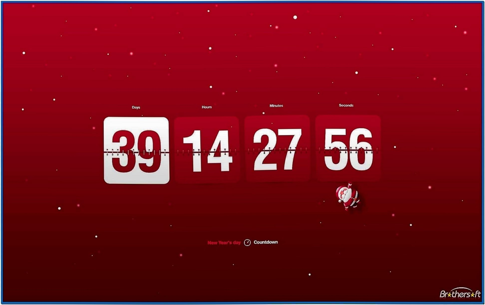 New Year Countdown and Clock Screensaver
