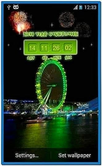 New years countdown 2016 screensaver - Download free