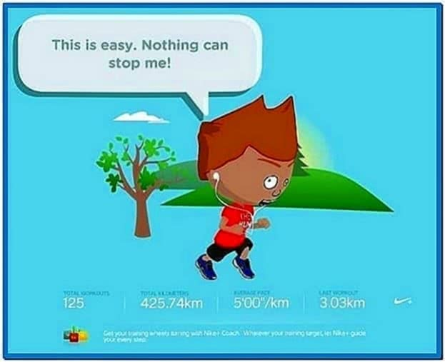 Nike Plus Mini Screensaver Mac