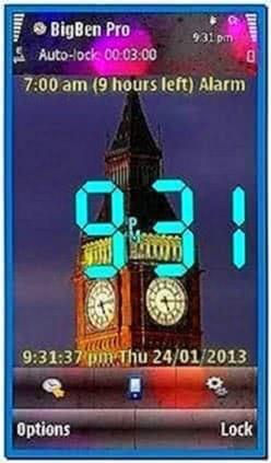 Nokia 5800 Analog Clock Screensaver