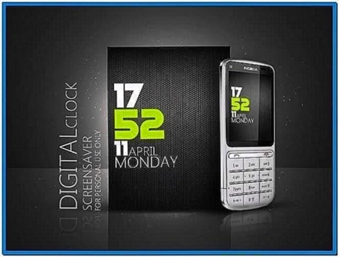 Nokia C3 Clock Screensaver