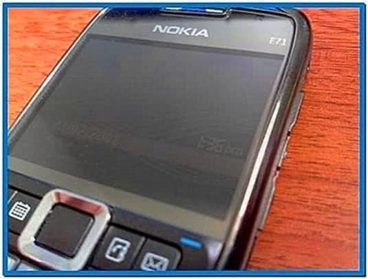 Nokia e71 clock screensaver