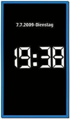 Nokia E72 Clock Screensaver