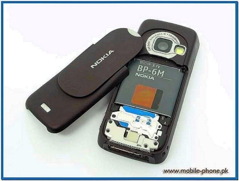 Nokia Mobile N73 Clock Screensaver