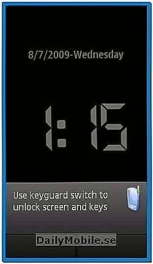 Nokia X6 Clock Screensaver