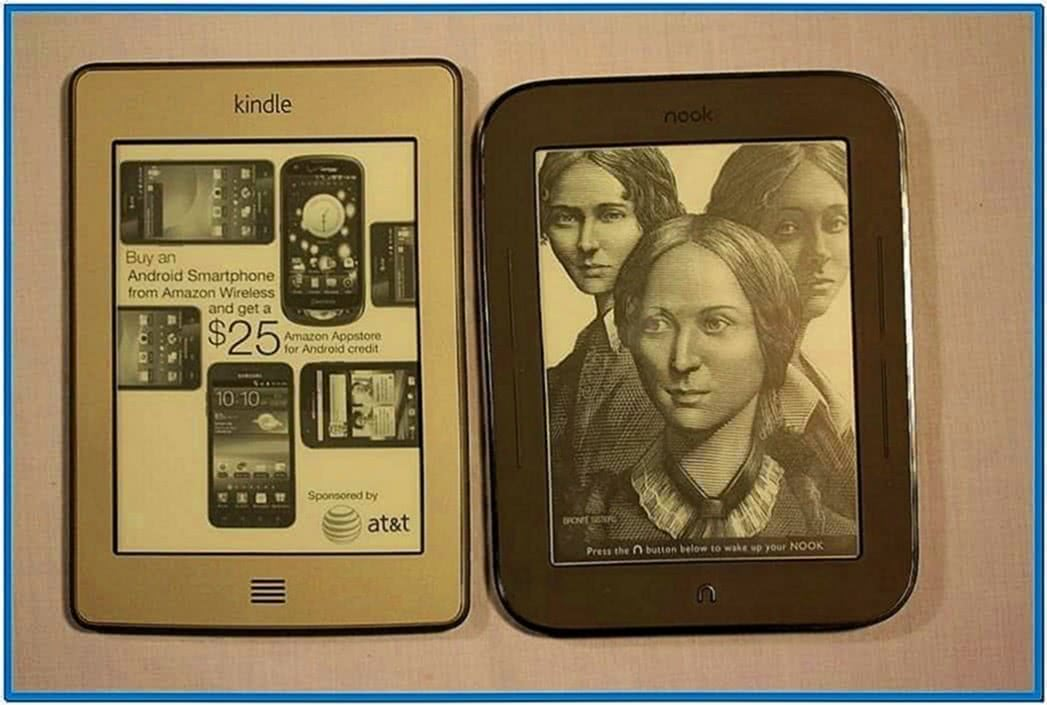 Nook simple touch reader screensaver