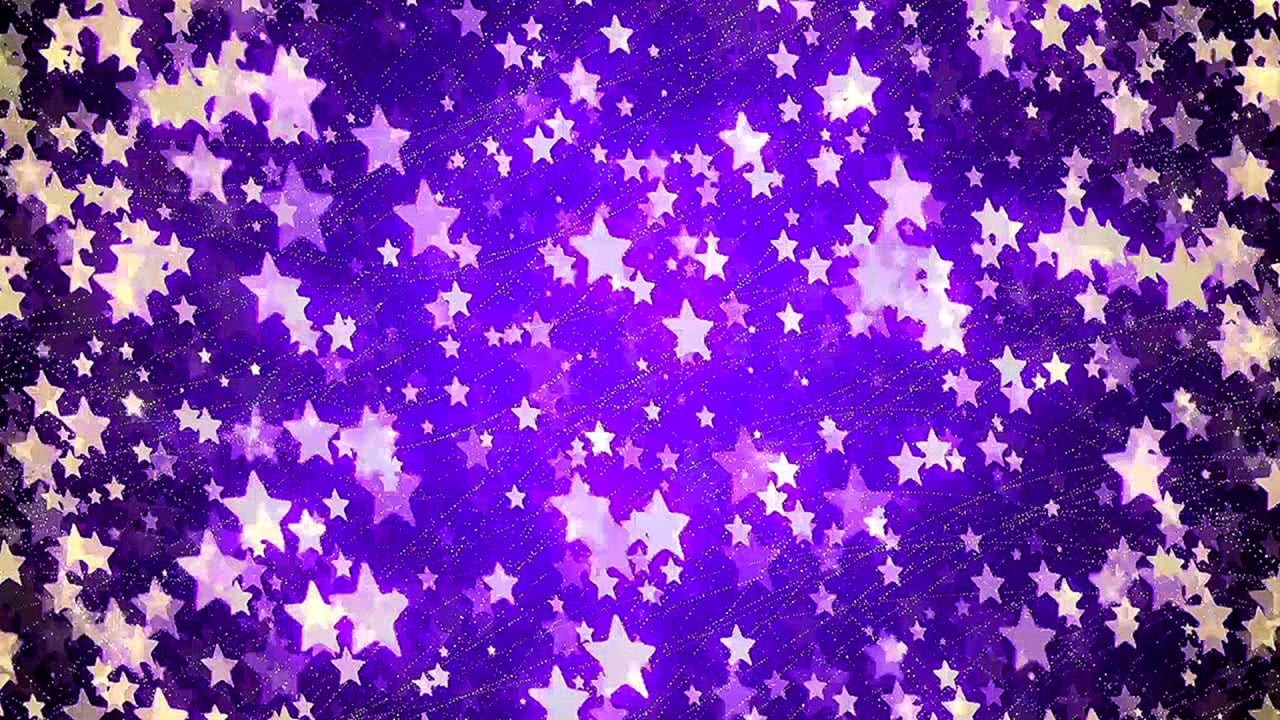 Relaxing screensaver with Abstract Background with nice flying stars