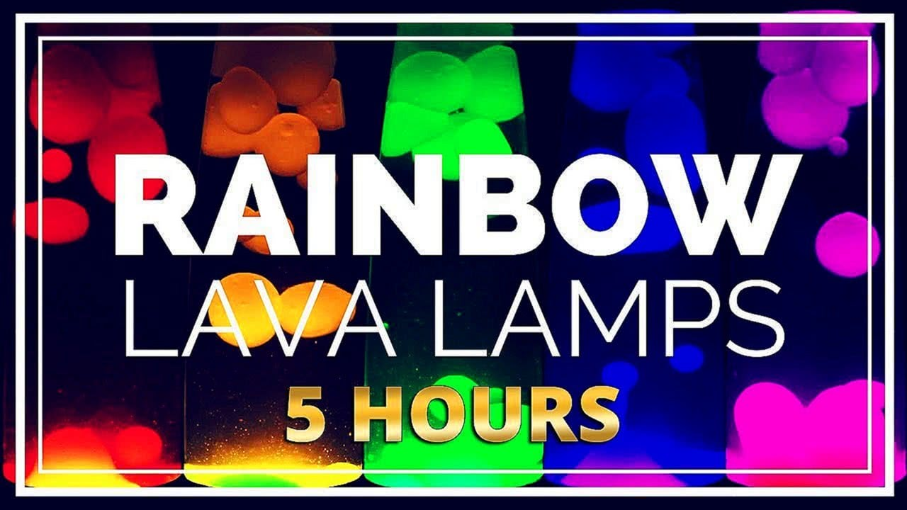Lava Lamp Rainbow Screensaver Relaxing Video Loop