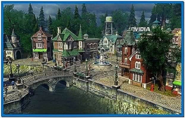 Nvidia sun village 3D screensaver
