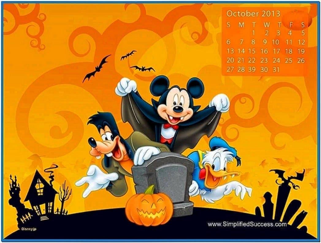 October 2020 Calendar Screensaver