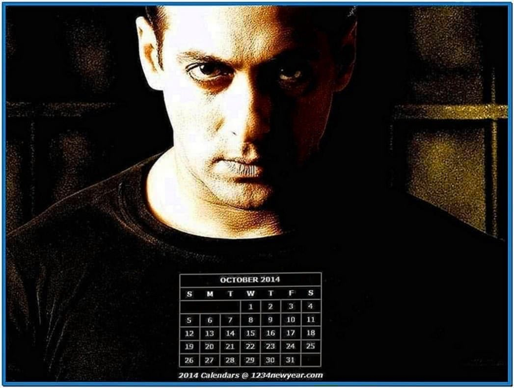 October 2020 Calendar Screensaver