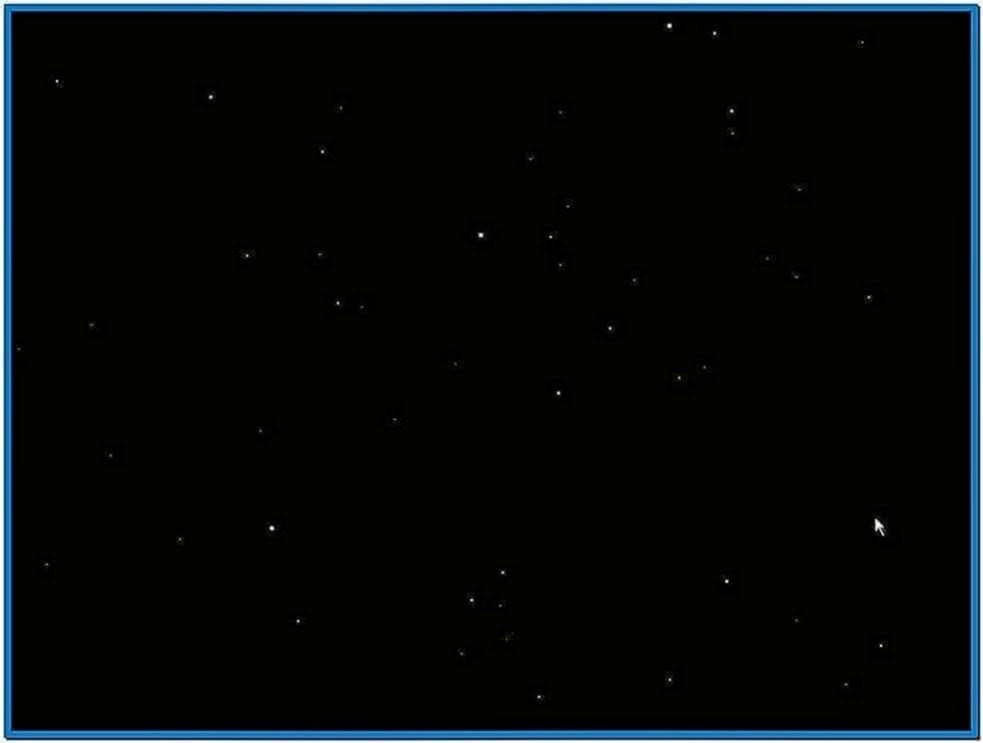 Old flying through space screensaver